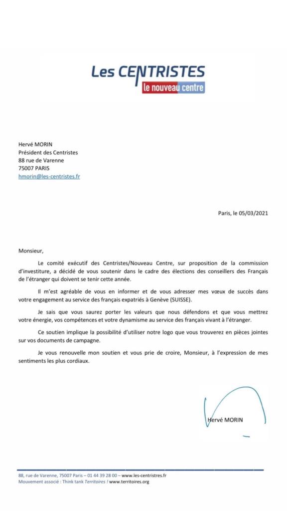 Soutien du Nouveau Centre / Hervé Morin / Centristes